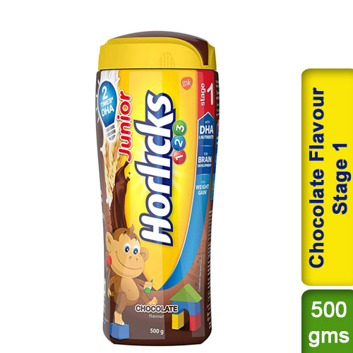 Junior Horlicks Chocolate Flavour Stage 1 Health and Nutrition drink