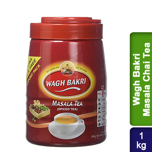 Wagh Bakri Masala Chai Tea Pet Box 1kg